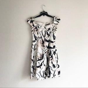 ZARA A line off the shoulder floral dress